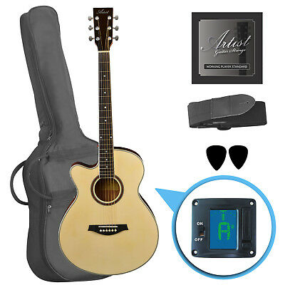 Artist LSPSNTL Beginner Left Handed Acoustic Guitar Pack, Small Body - New