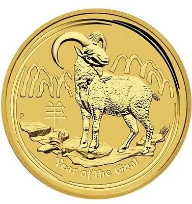 2015 Australia Lunar Year Of The Goat 1/10 Oz Gold Coin