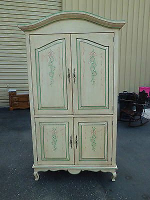 50706 Decorator  Stenciled  Entertainment Cabinet Wardrobe
