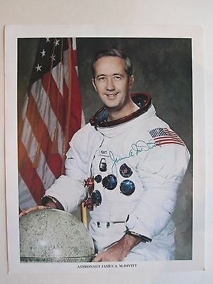"AUTHENTIC ASTRONAUT JAMES A. McDIVITT AUTOGRAPHED 8"" x  10"" PHOTO"