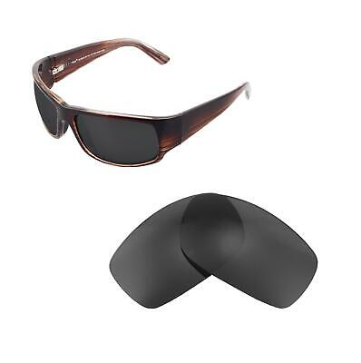 Walleva Polarized Black Replacement Lenses For Maui Jim World Cup Sunglasses