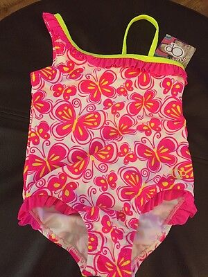 Op One Piece Swimsuit Toddler Girls Size 4T Butterfly Print New with Tags
