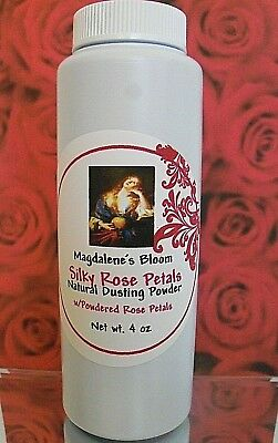 Magdalene's Bloom All Natural Dusting Powder Talc Free Powdered Rose Petals 4 oz