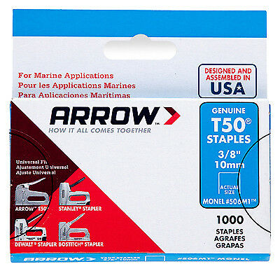 "Arrow Fastener 506M1 Model T50 Monel Staples-3/8"" MONEL STAPLE"