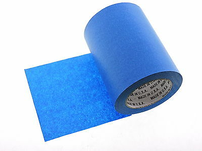 """1x 6"""" inch WIDE 3D Printing Print Bed Easy Removal Blue Painters Masking Tape"""