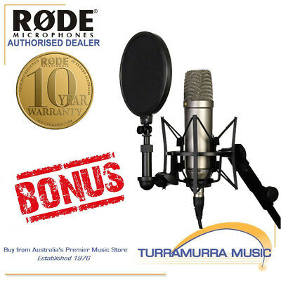 Rode NT1A Condenser Mic Complete Studio Recording Kit with BONUS FREE RODE GIFT
