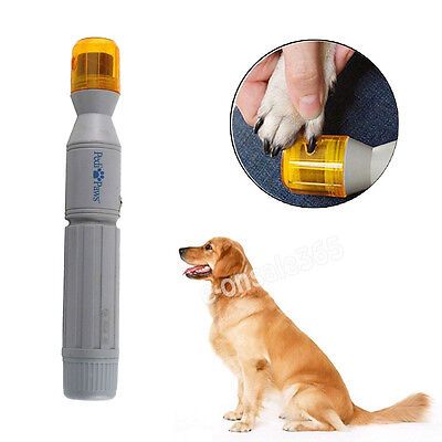 Electric Pet Nail Clippers Cutter Trimmer Tool Grinding Dog Cat Grooming Machine