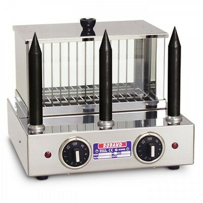 Roband Hot Dog Unit & Bun Warmer with 3 Teflon Coated Spikes Model M3T