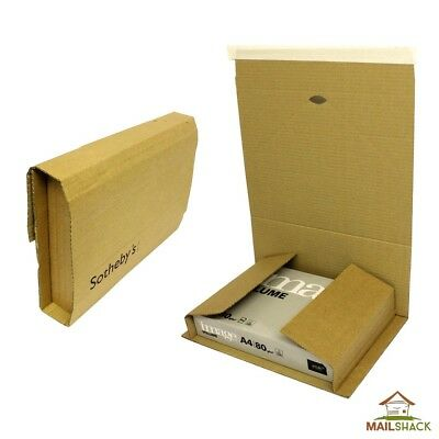 48 LARGE C4 Book Wraps   Lightweight Post Mailer Boxes   305x240x115mm - SIZE A4