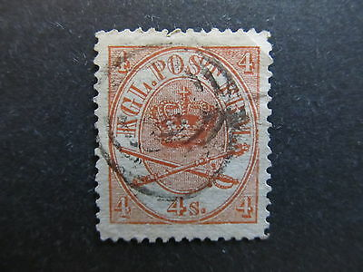 A3P27 Denmark 1864-68 4s Perf. 13 used #14