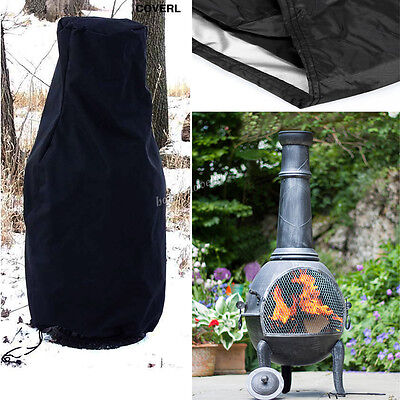 Modern Outdoor Patio Heater Fire Pit BBQ Chimnea Chimney Cover Large Wetherproof