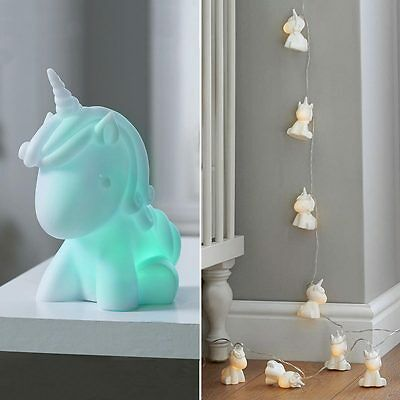 Indoor Battery Children's Unicorn Novelty Fairy String Mood Night Led Light Lamp