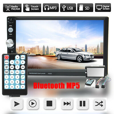 7'' HD Bluetooth Touch Screen GPS Car Stereo Radio 2 DIN FM/MP5//USB/AUX Player