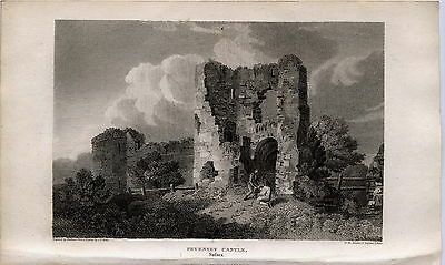 1812 Antique Print of Pevensey Castle, Sussex