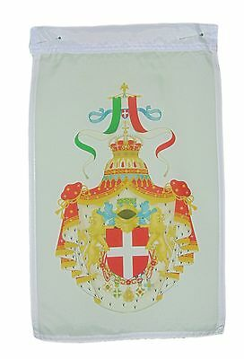 Italy Italian Coat Of Arms 1890-1929 Garden Flag 12 X 18 Inches One Sided