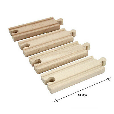 Wooden Train Straight Track Accessories Compatible All Major Brand 10.8cm OS7