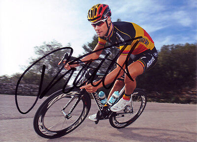 Tom Boonen Signed 5X7 inches Omega Pharma-Quick Belgium Jersey Photo