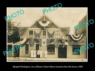 OLD LARGE HISTORIC PHOTO OF OLYMPIA WASHINGTON, VIEW OF THE OYSTER HOUSE c1900