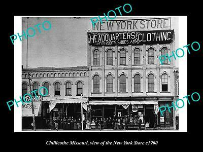 OLD LARGE HISTORIC PHOTO OF CHILLICOTHE MISSOURI, THE NEW YORK STORE c1900