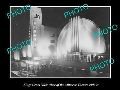 OLD LARGE HISTORICAL PHOTO OF THE MINERVA THEATRE, KINGS CROSS NSW c1930