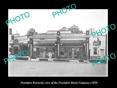 OLD LARGE HISTORIC PHOTO OF FRANKFORT KENTUCKY, THE BUICK MOTOR CAR Co c1930