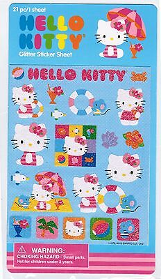 Sanrio Hello Kitty Glittery BEACH Umbrella Sun Fun NEW PACK!
