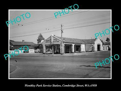 Old Historic Photo Of Wembley Park West Australia, The Service Station 1950