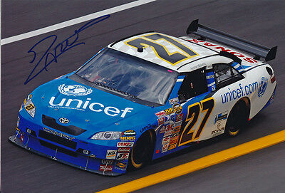 Jacques Villeneuve Nascar no 27 autograph, In-Person signed 8X12 inches photo