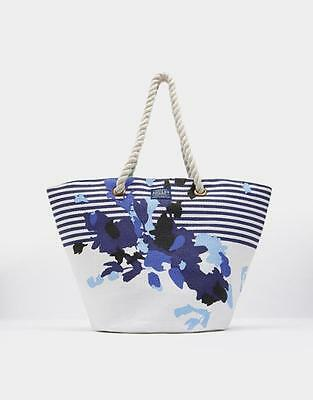 NEW Joules Summer Bag - White FLoral Stripe