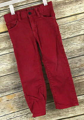 Baby Gap 1969 Skinny Jeans Size 3 Years Red Apple Stretch Adjustable Waist D4