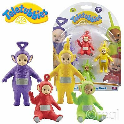 New Teletubbies 4 Figure Family Pack 1 Tinky Winky Dipsy Laa-Laa Po Official