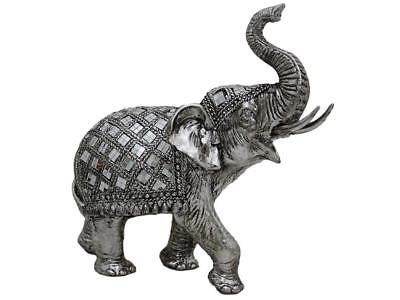Large silver luxe elephant figurine new home decor aud picclick au Silver elephant home decor