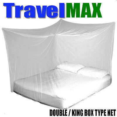 TravelMAX Mosquito Net Double/King Size Box net rectangular Insect Proof UK