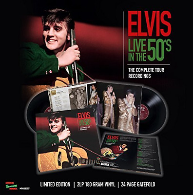 ELVIS PRESLEY-Live In The 50`s The Complete Tour Recordings 2Lp + 24 P VINYL NEW