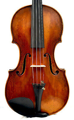 Certified ol violin Joseph Charotte, Italian Guarneri model - made ca. 1830