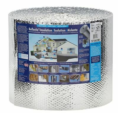 Double Reflective Insulation Barrier Home Wall Staple Tab Edge 16 in x 100 ft