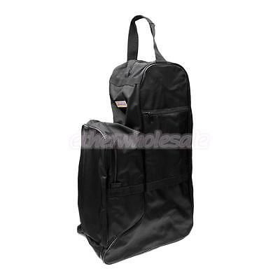 Waterproof Horse Riding Long Boots Carrying Travel Bag Carrier Nylon Black