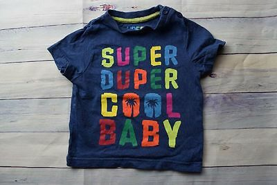 Shirt F&F 6-9 74 Cool Baby blau