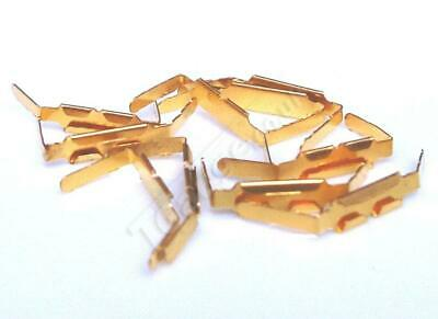 T Gauge Gold Plated Track Joiners 10 Pcs