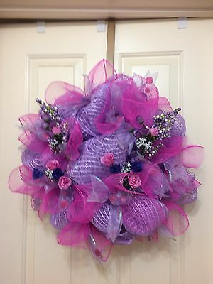 Deco Mesh Wreath Ready For Spring