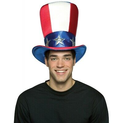 Uncle Sam Top Hat Costume Accessory Adult 4th of July