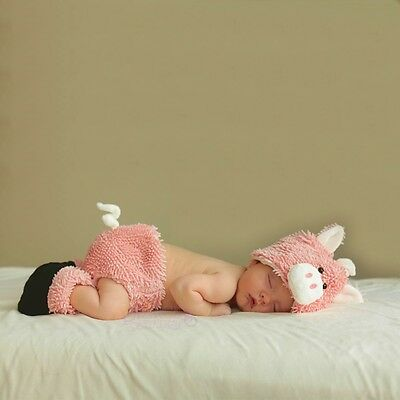 Baby Pig Costume Newborn Diaper Cover Set Halloween Fancy Dress Up Outfit