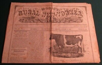 Jan 17 1863 Moore's Rural New Yorker Civil War Newspaper Battle of New Orleans