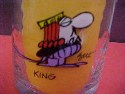 """Vintage Arby's Promo Glasses * """"the Wizard Of Id""""  1983 Collector Series  King"""