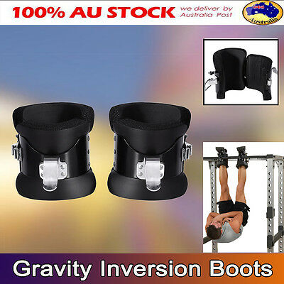 Gravity Inversion Boots Therapy Hang Spine Posture Physio Gym Fitness Training