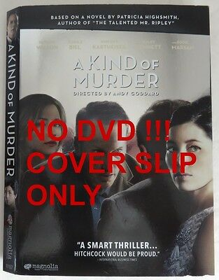 No Discs !! A Kind Of Murder Dvd Cover Slip Only - No Discs !!        (Inv13329)