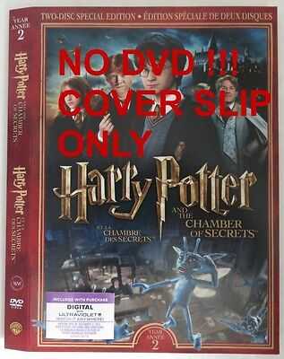 No Discs !! Harry Potter 2 Dvd Cover Slip Only - No Discs !!       (Inv13318)