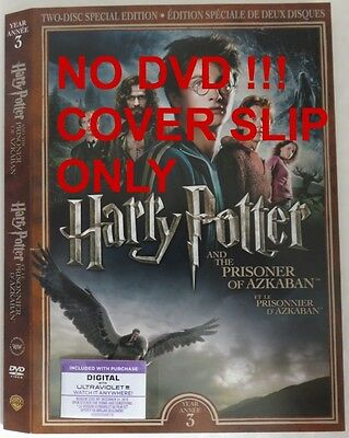 No Discs !! Harry Potter 3 Dvd Cover Slip Only - No Discs !!     (Inv13313)