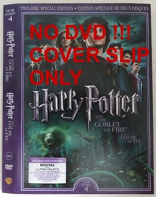 No Discs !! Harry Potter 4 Dvd Cover Slip Only - No Discs !!       (Inv13317)