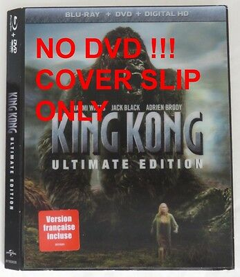 No Discs !! King Kong Ultimate Blu-Ray Cover Slip Only - No Discs !!  (Inv13308)